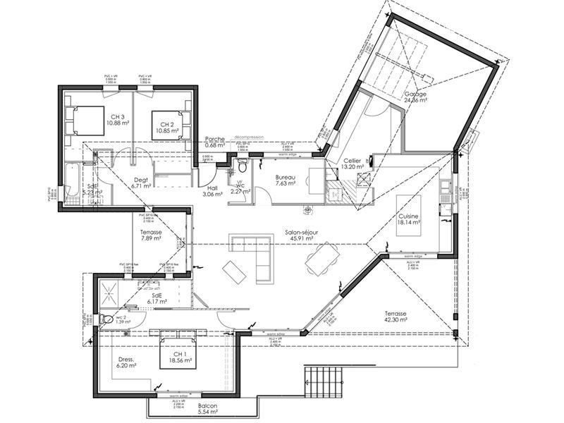 Modele Plan Maison Plain Pied Gratuit En L De