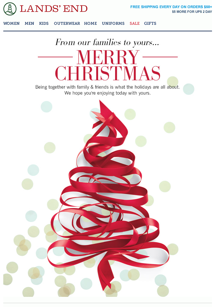 Lands End Holiday Letter Christmas Newsletter Christmas Marketing Christmas Campaign