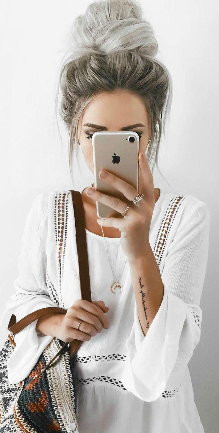 Amuse Society – Kensington – Weißes Spitzenkleid – #Amuse #Dress #hochgesteckt #Kensing …