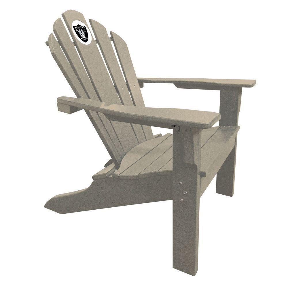 Oakland raiders big daddy gray composite adirondack deck chair