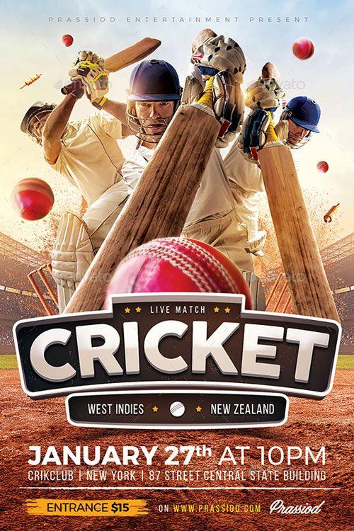 Cricket Cricket Template | Cricket match, Flyer  Match