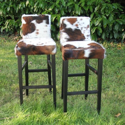 Kitchen Cowhide Bar Stool VBS London Cows Limited