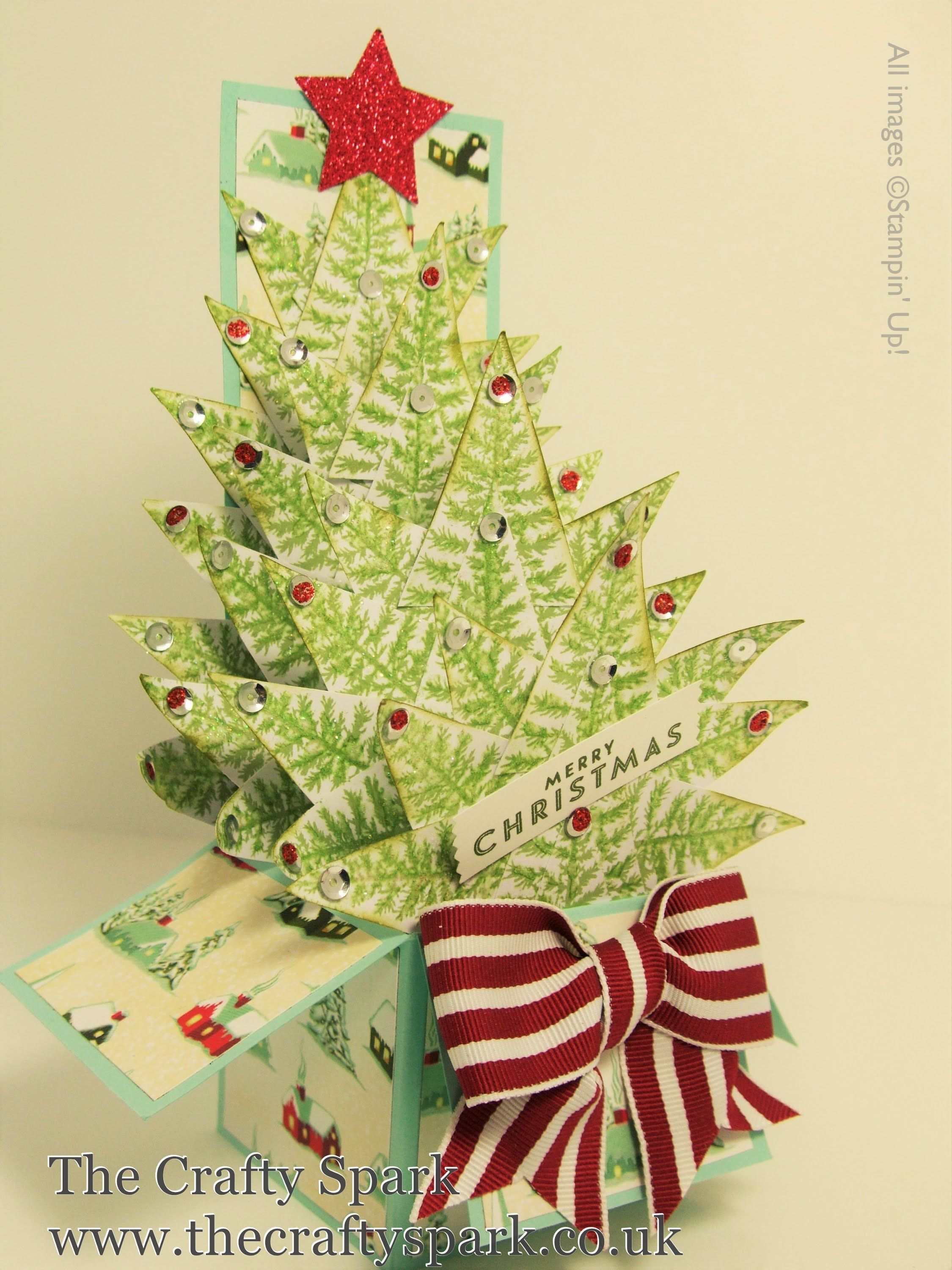 Christmas Tree Card In A Box Stampin Up UK part 1 using