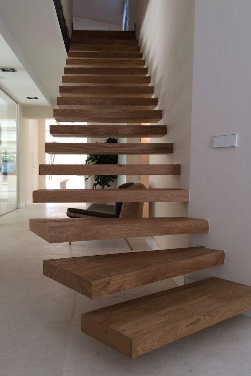 escaleras con tarima Decoración Pinterest Tarimas, Escalera y - escaleras de madera rusticas