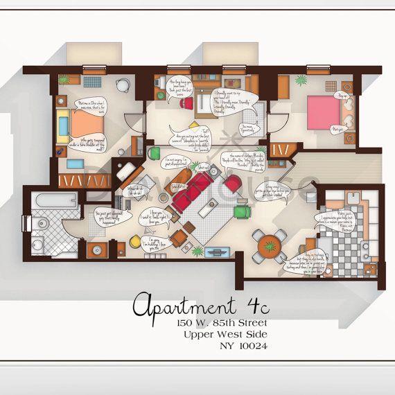 plan appartement how i met your mother