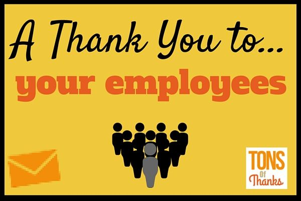 Thank You To Employees Team And Individual Thank You Note