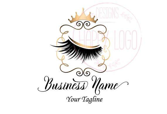DIGITAL Custom logo design , lashes logo, crown lash beauty logo