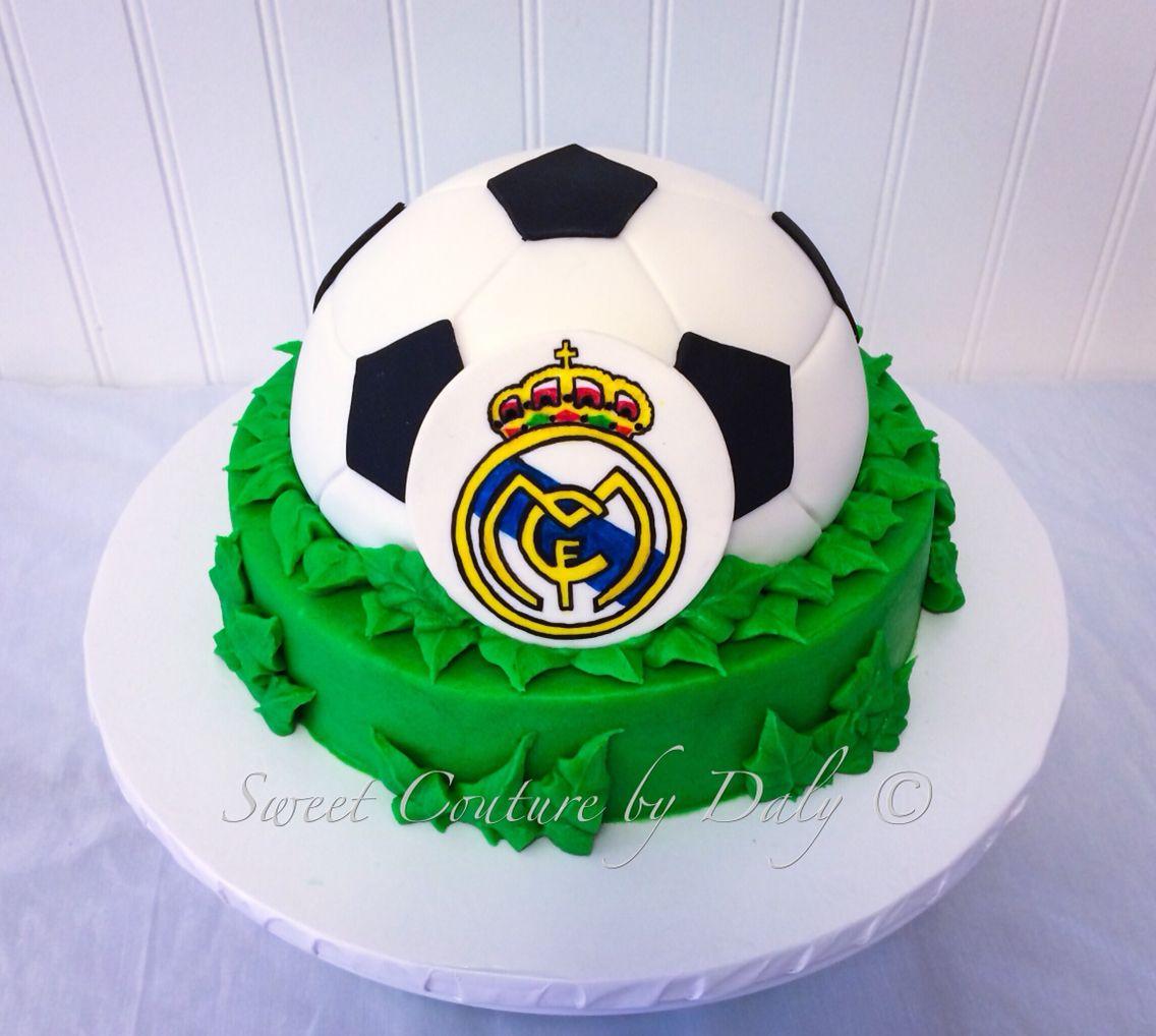 Cool Real Madrid Cake Tortas Deportivas Modelos De Tortas Funny Birthday Cards Online Elaedamsfinfo