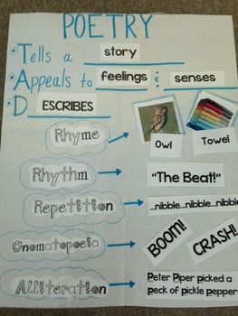 Poetry Anchor Chart | School Stuff | Poetry anchor chart