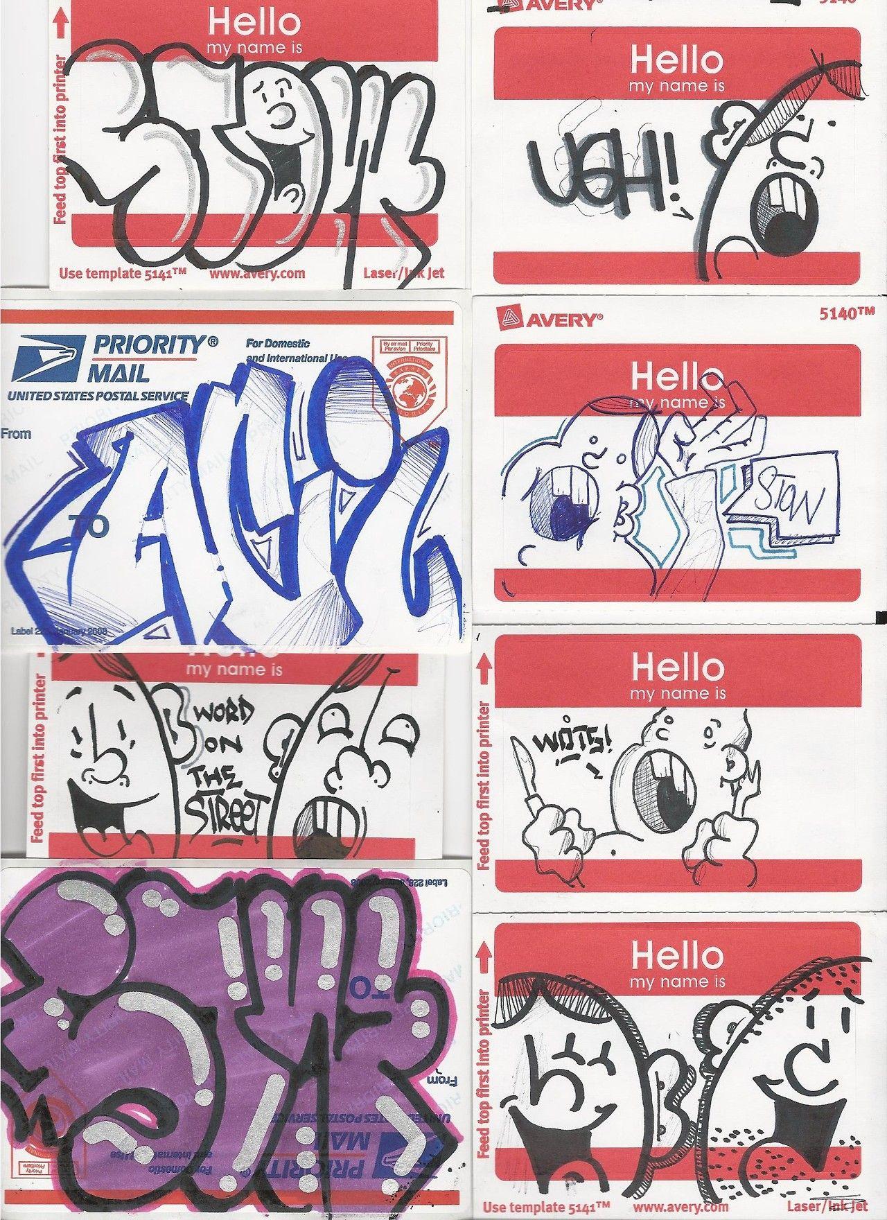 Sticker street art graffiti drawing street art graffiti
