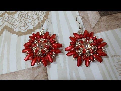 Stella Di Natale Con Perline.Diy Orecchini Stella Di Natale Chilli Beads Preciosa Gyongy