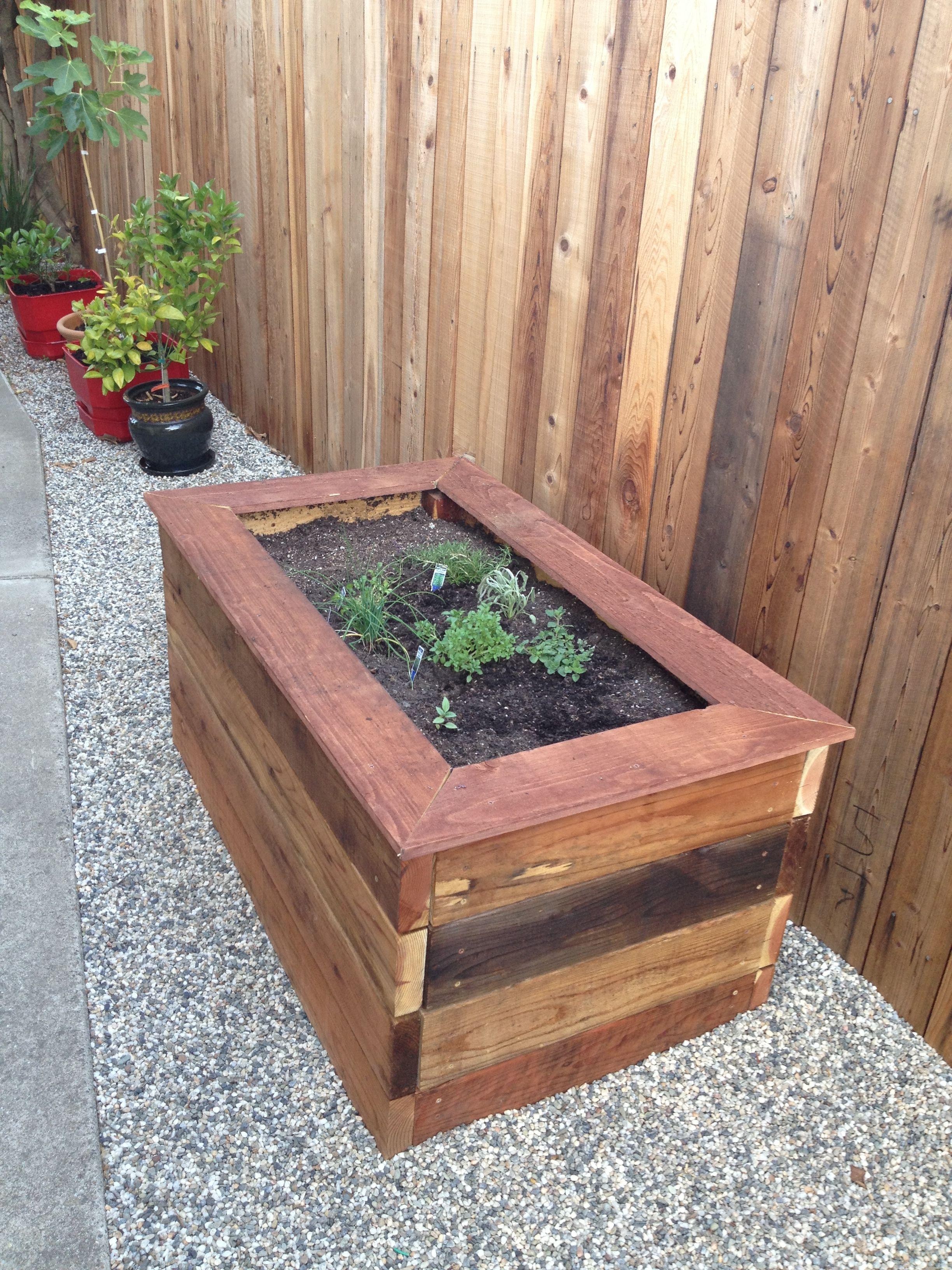 Redwood Planter Box Plans Plans Free Download Raised