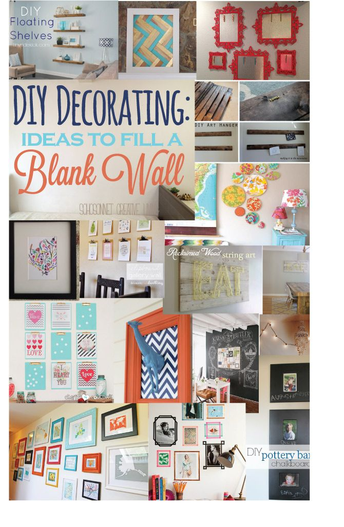 20 ideas to decorate a blank wall diy art creative and for Creative ideas for home decor
