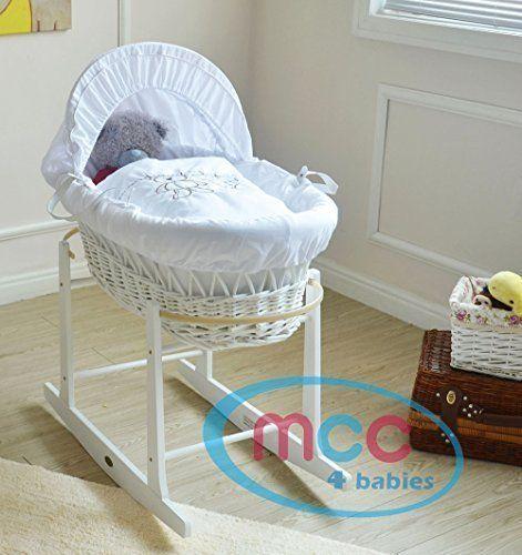Matelas Couverture Couffin Bébé Rembourré avec Garniture Bleu