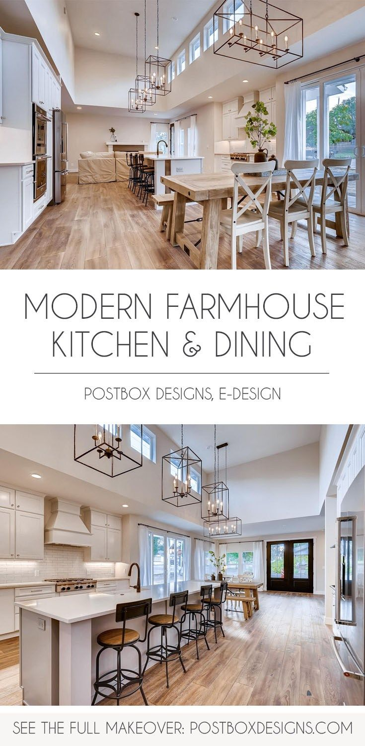 BIG REVEAL: Peek Inside this Modern Farmhouse Kitchen & Dining Room! - Postbox Designs