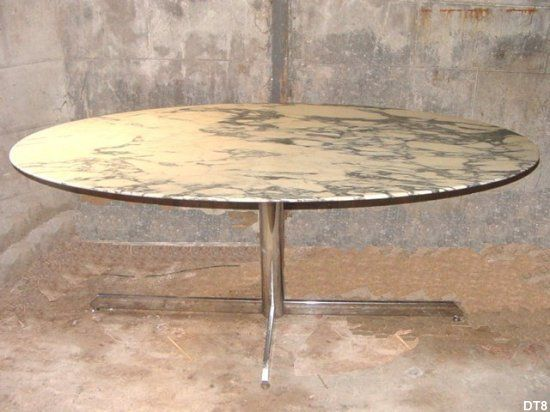 Table A Manger Ovale Vers 1970 Edition Roche Bobois Table Marbre Table A Manger Table Salle A Manger