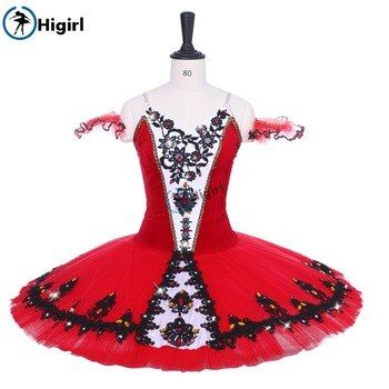 b84aed610808 Adult Ballerina Dance Skirts Costume Girls Don Quijote Variation Red ...