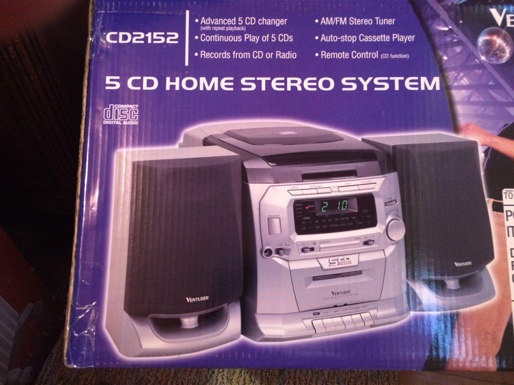 13eb97e1d40e 5-Disc CD Home Stereo Player CD2152 Venturer AM/FM NEW IN BOX #homestereo