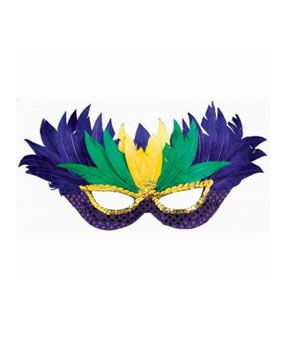 Masquerade Feather Mask - Coolglow.com