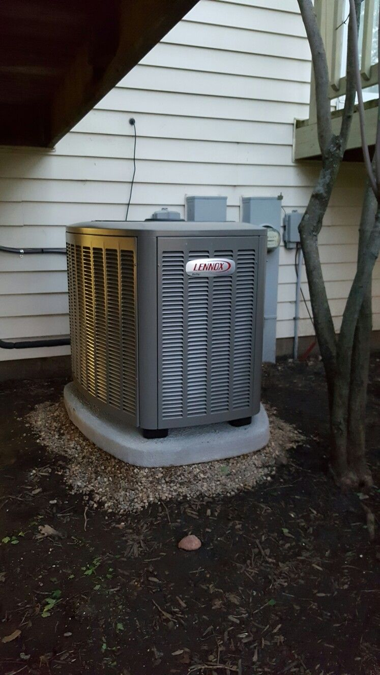 After Lennox Xc14 Ac Condenser Installed By Compass Heating And Air Condenser Was Moved Away From The Wall And Out From Lake In The Hills Installation Lake