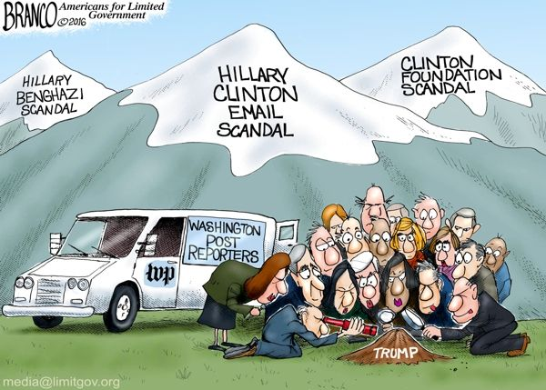 "Image result for trump hillary debate cartoon ""media bias"""
