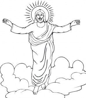 Dibujo En El Cielo De Jesus Imagenes De Jesus Resucitado Dibujos De Jesus Jesus Para Colorear