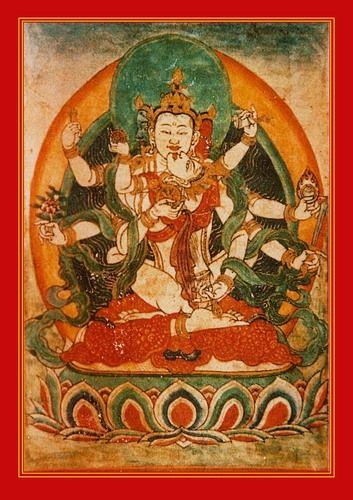 Dhyani Buddha Akshobhya and his Dakini consort Locana occupy