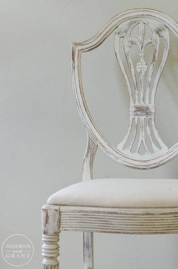 Vintage Chair With White Paint