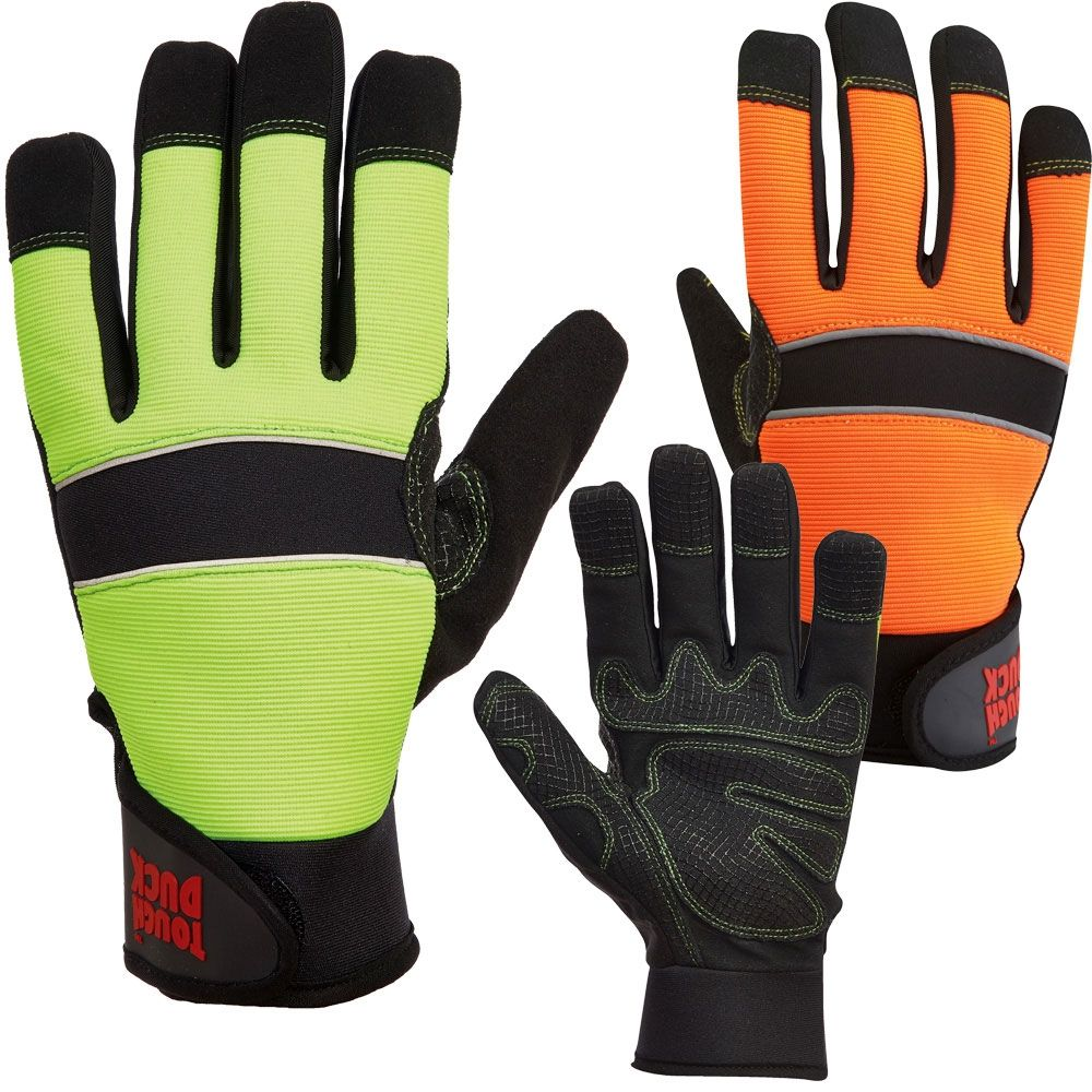 Tough Duck G79616 Hivis Thermal Water Proof Safety Glove Safety Gloves Gloves Work Gloves