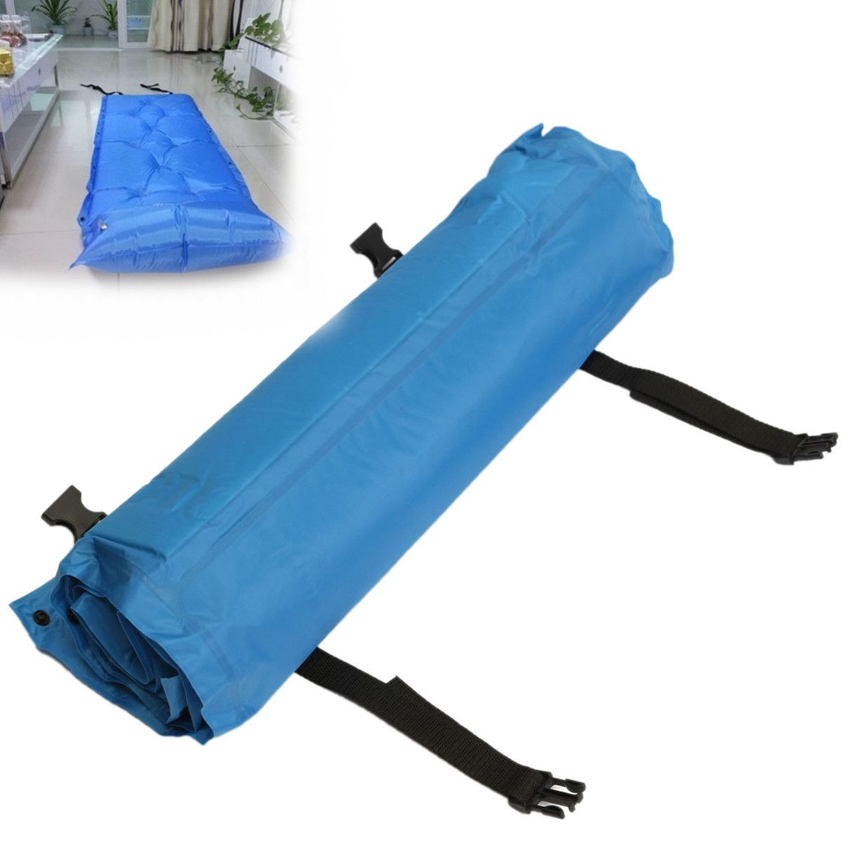 Outdoor Polyester Camping Self Inflating Air Mat Mattress Pad Pillow Waterproof Hiking Sleeping Bed 4 Colors Walmart Com Inflatable Bed Hiking Sleeping Bags Sleeping Pads
