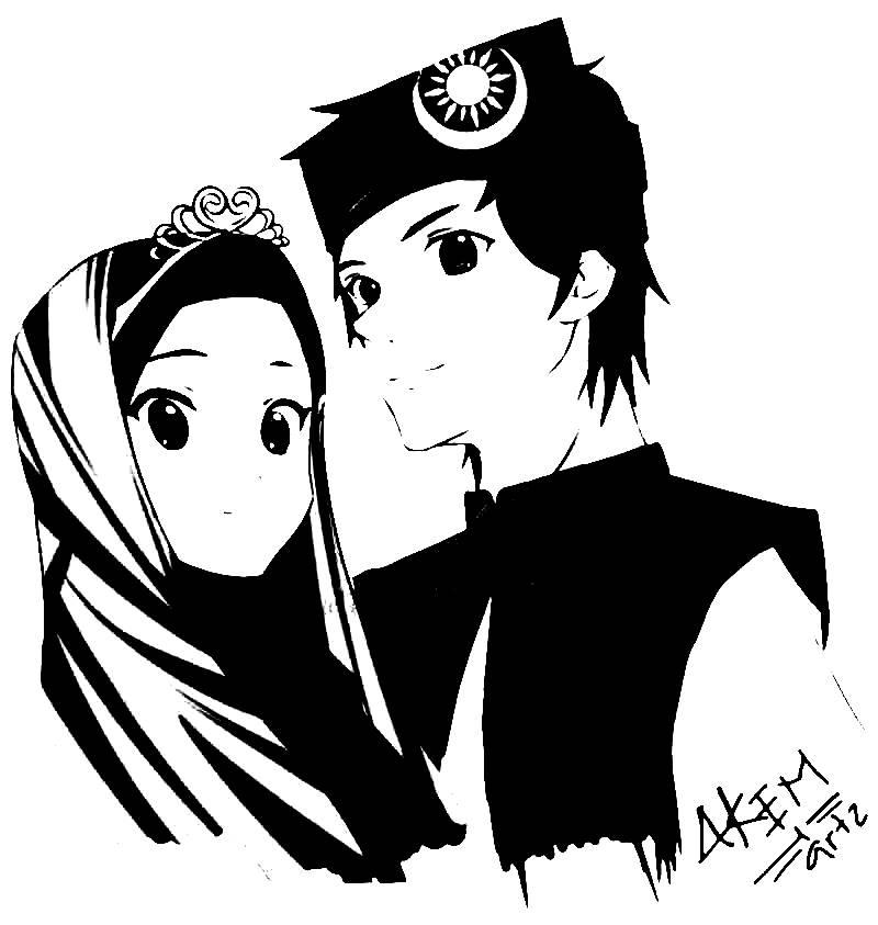 31 Kartun Pasangan Muslim Dan Muslimah Anak Cemerlang Di 2020 Kartun Ilustrasi Komik Gambar