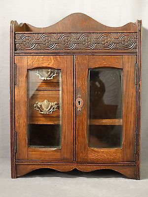 19thC Antique VICTORIAN Tobacco SMOKING CABINET Old LIQUER CHEST ...