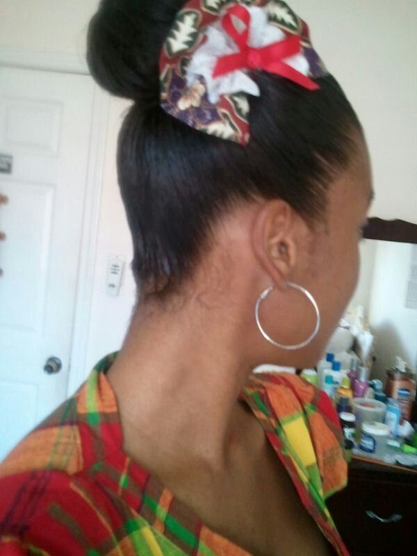 Love my lil sister's hair for our independence day celebrations. Happy Independence Day Dominica!
