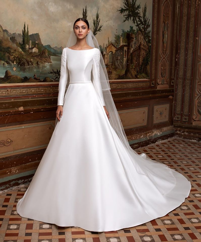 Pronovias Winter Wedding Dress Wedding Dress Sleeves Mikado Wedding Dress