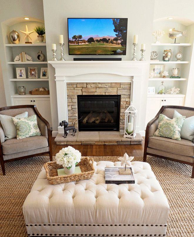 Beautiful Living Room Fireplace, Furniture And Decor. Accent Chairs U2013 Carol House  Furniture, St