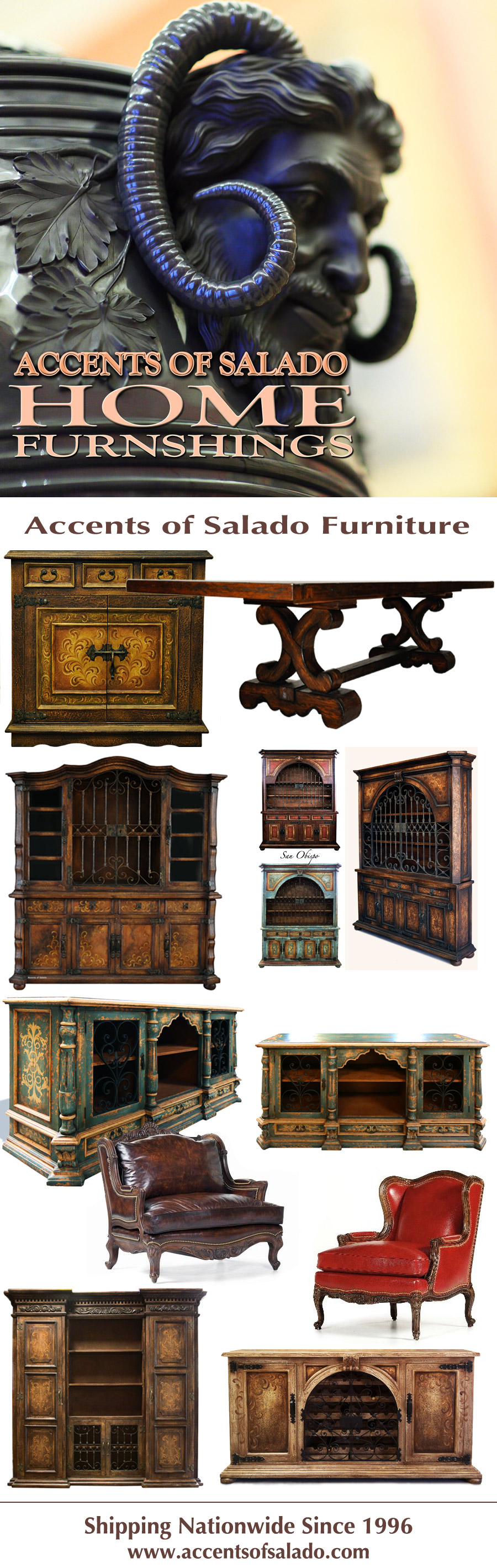 Accents of Salado has your style.. We furnish Spanish ...