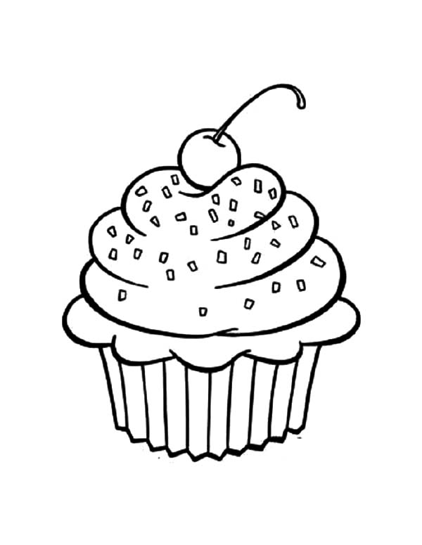Cupcakes Chocolate Sprinkles Coloring Pages Netart In 2021 Cupcake Coloring Pages Coloring Pages Spiderman Coloring
