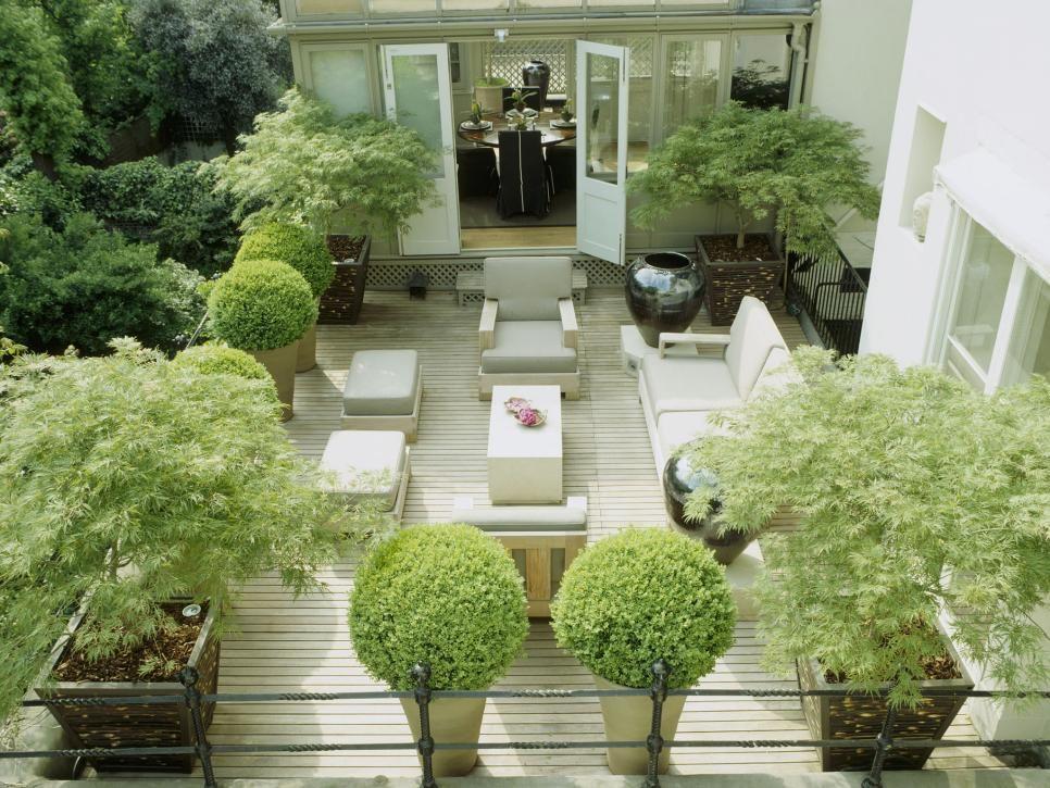 Plantscaping a Deck or Patio Tipos de plantas, Vasos y Tipos de