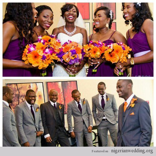 Nigerian Wedding Party: 50 Beautiful Color Coordinating Ideas For Your Bridesmaids