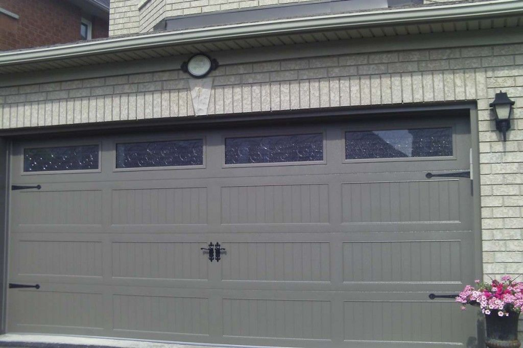 Beautiful Chi Garage Door In Bronze Color