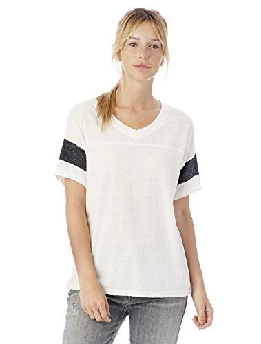 Alternative Womens Powder Puff Tee Eco IvoryEco Black XLarge >>> Read more reviews of the product by visiting the link on the image.