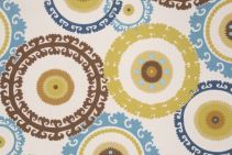 10.8 Yards Mill Creek Wolfram Printed Polyester Outdoor Fabric in Cabana
