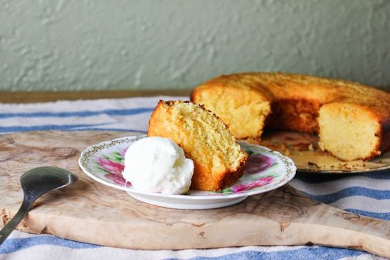 Pink Grapefruit and Rosemary Cornmeal Cake, a recipe on Food52