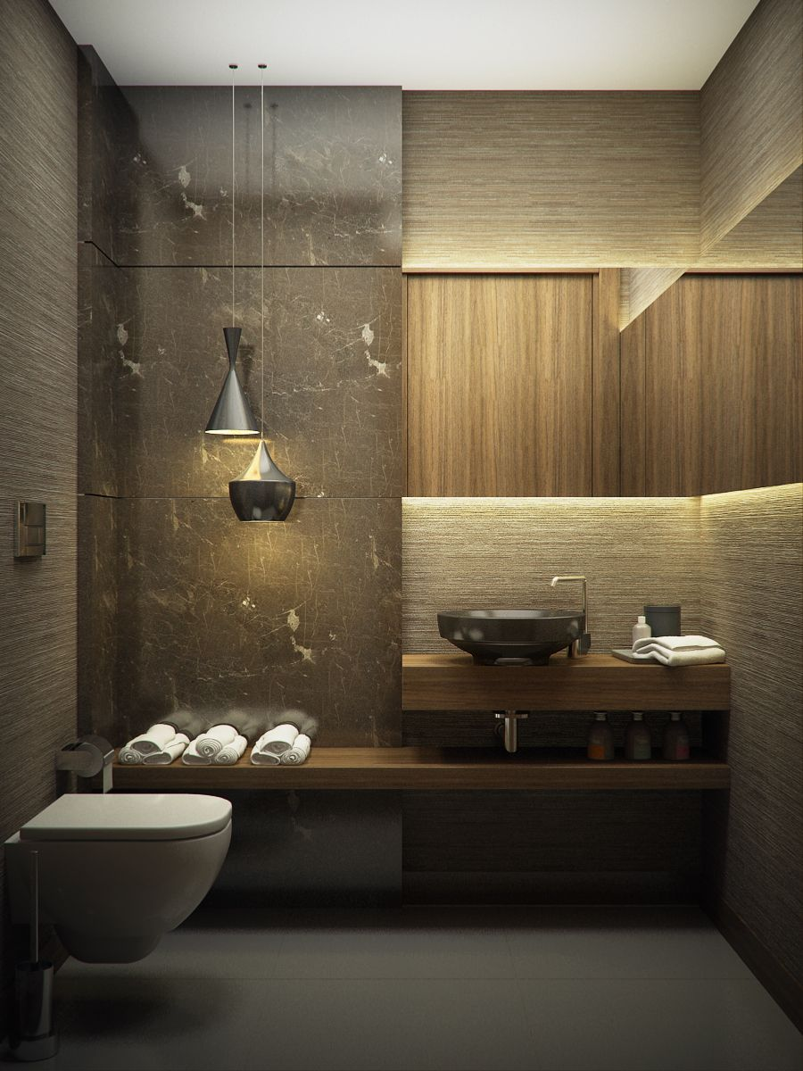 Elegant Bathroom Design In Contemporary Style Design By