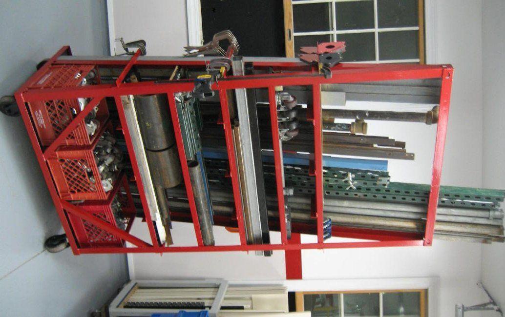 Scrap Steel Rack Ideas Wanted Metal Storage Racks Storage