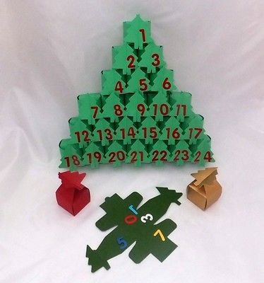 #Advent calendar kit makes 24 #christmas tree #boxes with numbers 1 to 24 die cut,  View more on the LINK: 	http://www.zeppy.io/product/gb/2/331036184436/