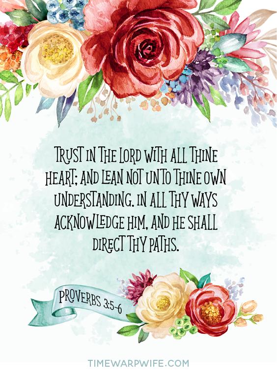 Free Printable - Proverbs 3:5-6
