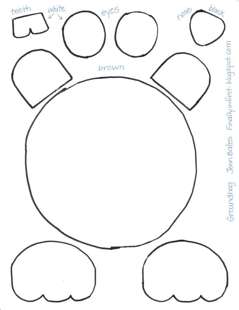 Groundhog Pattern Groundhog Day Activities Kindergarten Groundhog Kindergarten Groundhog Day [ 1033 x 798 Pixel ]