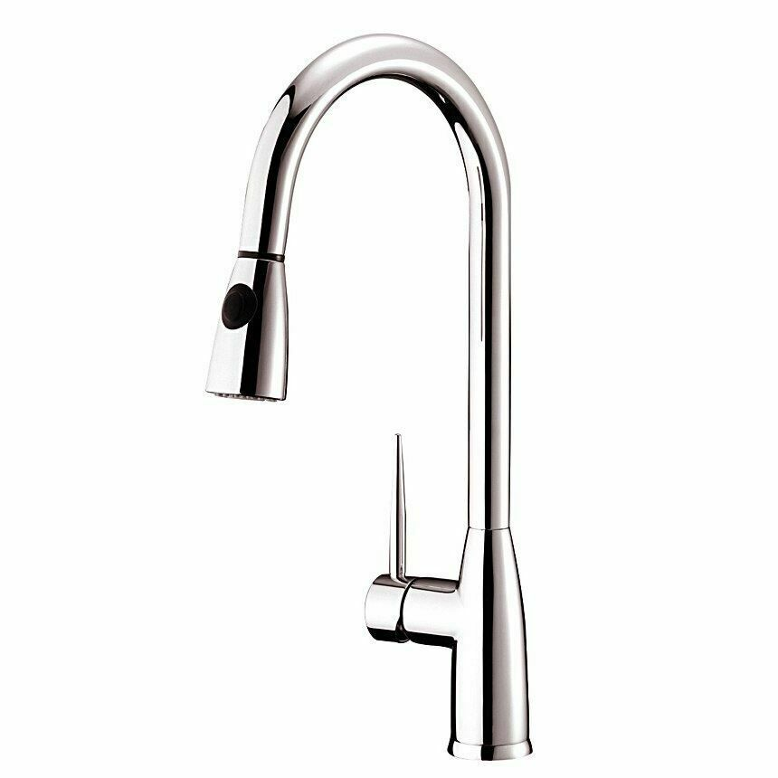 Dowell Pull Down Single Handle Kitchen Faucet Finish Brushed