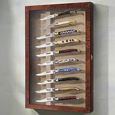 Pocker Knife Display Taschenmesser Geschenk Basteln Boxen Schaukasten Vitrine Messervitrine